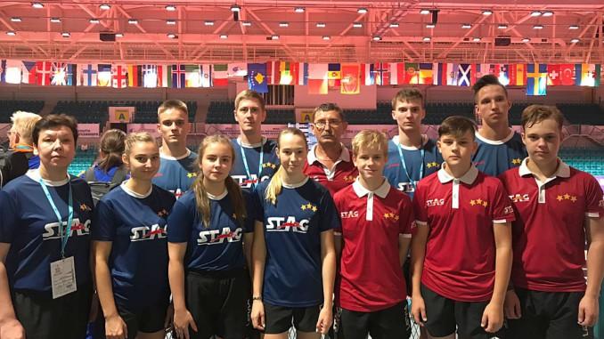 Junioru galda tenisistēm 32. vieta Eiropas jaunatnes komandu čempionātā