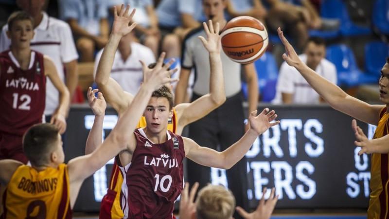U16 izlasei zaudējums arī pret Ziemeļmaķedoniju un pēdējā vieta grupā
