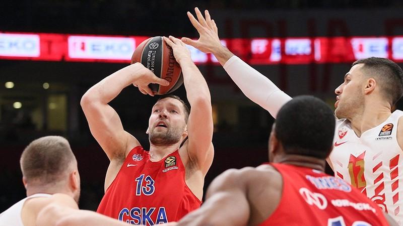 Strēlnieks spēlē tikai pirmajā ceturtdaļā CSKA uzvarā Belgradā