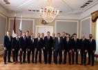 Foto: Latvijas hokeja izlase viesojas Rīgas pilī pie Valsts prezidenta