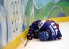 Foto: Olimpiskais hokejs turnīrs. Pusfināli