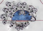 Stacijas laukumā skatāmas fotogrāfijas no Soču olimpiskajām spēlēm