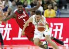 Lietuva pārliecinoši apspēlē Kanādu un gaida cīņu par uzvaru H grupā