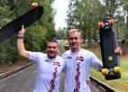 Latvijas slalomisti no troņa gāž skeitborda slaloma dzimteni ASV