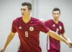 Latvijas telpu futbola izlase sākusi gatavošanos mačam pret titulētajiem spāņiem