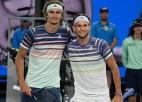 """Ņujorkā Tīma un Zvereva cīņa par pirmo """"Grand Slam"""" titulu"""