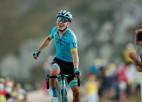 """Slovēņi tuvojas dubultuzvarai """"Tour de France"""", latvieši aktīvi posma sākumā"""