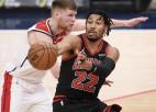 Bertāna un Pasečņika ''Wizards'' pēc pirmās uzvaras sezonā pret ''Bulls''