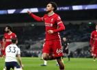 """""""Liverpool"""" ar trīs vārtiem pret """"Tottenham"""" izcīna gada pirmo uzvaru Premjerlīgā"""