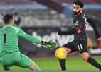 """Salāhs gūst divus vārtus """"Liverpool"""" uzvarā, """"Tottenham"""" bez Keina zaudē """"Brighton"""""""