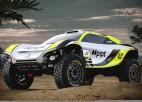 Batons ar F1 dizaina mašīnu startēs elektriskajā rallijreidā