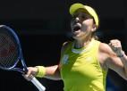 """Pegula revanšējas Svitoļinai un pirmoreiz iekļūst """"Grand Slam"""" ceturtdaļfinālā"""