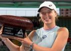 Švjonteka sagrauj Benčiču un Adelaidā izcīna otro WTA titulu