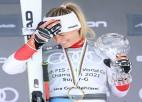Guta-Behrami vīlusies par ātrumdisciplīnu atcelšanu; rīt slalomā nestartēs