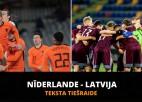 Teksta tiešraide: Nīderlande - Latvija (2:0, spēle beigusies)