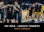 Teksta tiešraide: ''VEF Rīga'' - ''Tenerife'' (spēle galā)