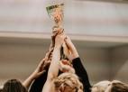 """Finālsērijas zelta setā par Latvijas čempionēm kļūst """"Jelgavas"""" volejbolistes"""