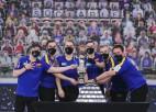 Zviedrija izcīna trešo pasaules kērlinga čempionu titulu pēc kārtas