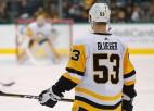 """Bļugera 50. punkts NHL karjerā neglābj """"Penguins"""" no zaudējuma """"Sabres"""""""