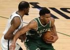 Adetokunbo rezultatīvākā spēle sezonā, ''Bucks'' pieveic Austrumu konferences līderi ''Nets''