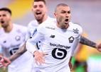 Jilmaza divi vārti ļauj Lillei nostiprināties Francijas čempionāta vadībā