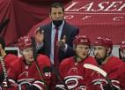 """NHL labākā trenera balvai nominētais Brind'Amūrs pagarina līgumu ar """"Hurricanes"""""""
