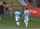 """Video: """"Riga FC"""" spēles izskaņā dramatiski izglābjas pret """"Noah"""""""