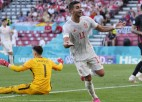 """Video: Astoņu vārtu spēlē Spānija pārspēj horvātus un tiek """"Euro 2020"""" ceturtdaļfinālā"""