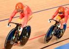 Pirmais zelts treka riteņbraukšanā Ķīnai, Lietuva piektā, krīt arī divi pasaules rekordi