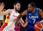 Durents ar 29 punktiem sekmē ASV uzvaru pret pasaules čempioni Spāniju