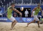 Pļaviņš/Točs atzīst Kataras dueta pārākumu un paliek bez olimpiskās medaļas