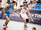 Latvijas U18 3x3 basketbola izlasēm mainīgas sekmes Pasaules kausa ievadā