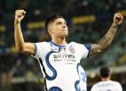 """""""Inter"""" četru vārtu spēlē pārspēj """"Verona""""; """"Lyon"""" pirmā uzvara Francijā"""