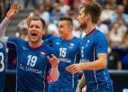 Čehijas volejbolisti trīs setos šokē olimpisko čempioni Franciju