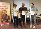 Latvijas šaha čempionāta Vidzemes reģionālajā atlasē labākie Gudovskis, Alainis un Milovs