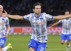"""""""Hertha"""" atgūstas pret Bundeslīgas jaunpienācēju, izcīnot otro uzvaru pēc kārtas"""