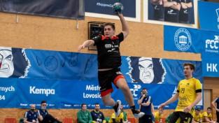 Strazdiņam trīs vārti Čehijas augstākajā handbola līgā