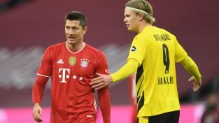 "Levandovskim <i>hattrick</i>, Holannam divi vārti, ""Bayern"" trillerī uzvar ""Borussia"""