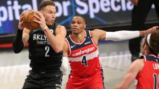 "Vestbrukam <i>triple-double</i>, ""Wizards"" Grifina debijā piekāpjas ""Nets"""