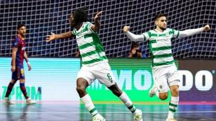 ''Sporting'' atspēlējas un otro reizi trīs gadu laikā triumfē telpu futbola ČL