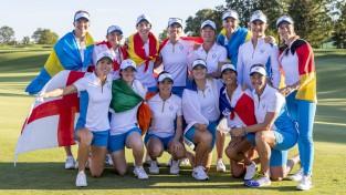 """Eiropas golferes izbraukumā pieveic ASV komandu un aizstāv """"Solheim Cup"""" titulu"""