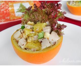 Jaungada salāti apelsīnā