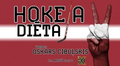 """Šovakar """"Hokeja diēta"""" ar Oskaru Cibuļski – Latvija pret Itāliju"""