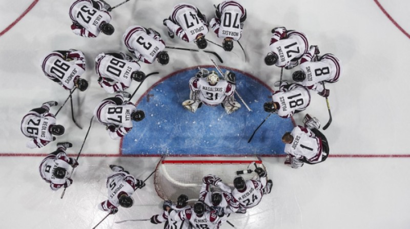 Latvijas hokeja izlase  Foto: Zigismunds Zālmanis, olimpiade.lv