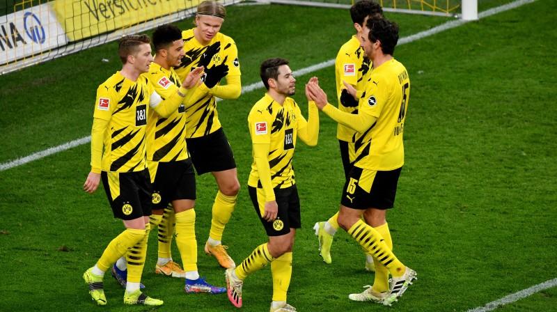 "Dortmundes ""Borussia"" futbolisti. Foto: Ulrich Hufnagel / Hufnagel PR / POOL/Scanpix.ee"