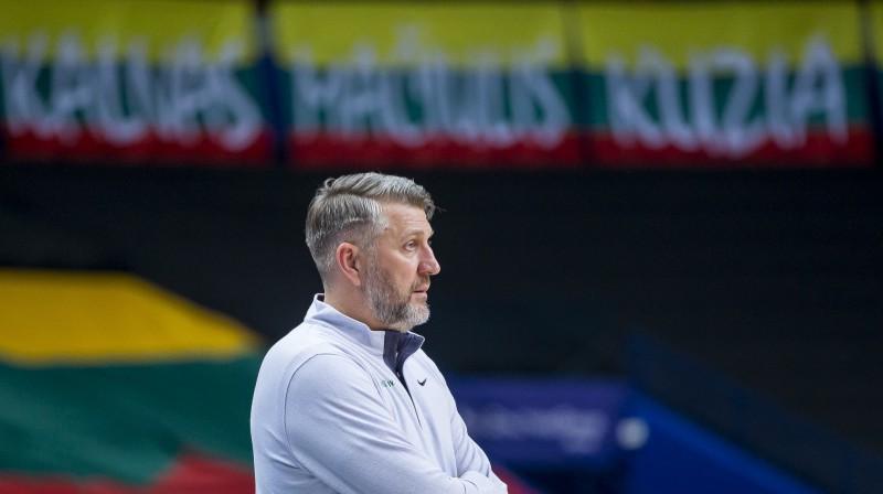 Lietuvas izlases galvenais treneris Darjus Maskoļūns. Foto: Rokas Lukosevicius/Scanpix
