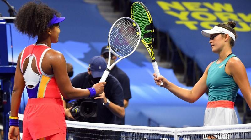 """Naomi Osaka un Dženifera Breidija """"US Open"""" pusfinālā"""