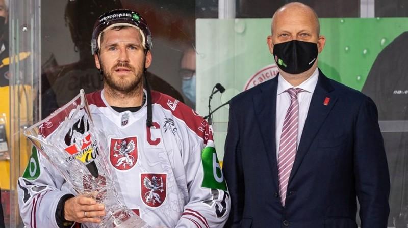 Mārtiņš Karsums un Viesturs Koziols. Foto: LHF