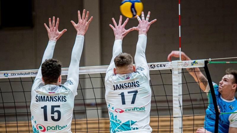 Jēkabpils pret Jūrmalu - Latvijas volejbola klasika. Foto: RTU/Robežsardze-Jūrmala