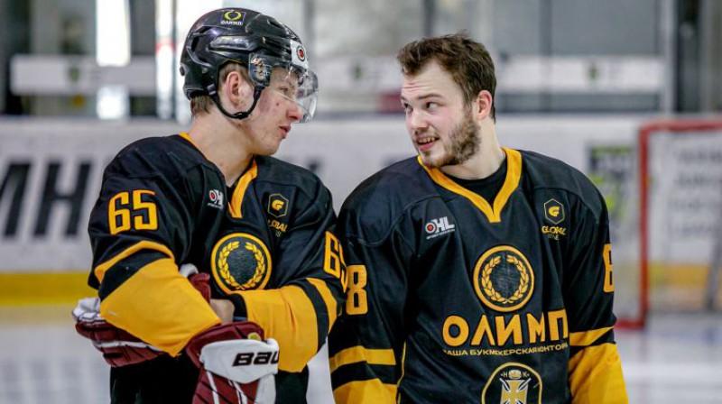 Arvils Bergmanis un Fjodors Jarovinskis. Foto: Agris Bricis/OHL